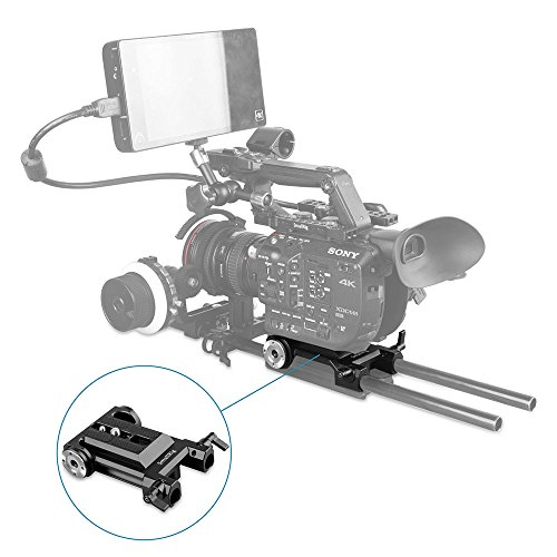 SmallRig Baseplate Bottom Plate for Sony FS5 / Panasonic EVA1 with Two ARRI Rosettes on Both Sides - 1827 by SmallRig