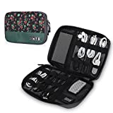 Hynes Eagle Travel Universal Cable Organizer Electronics Accessories Cases For Various USB, Phone, Charger and Cable, Floral
