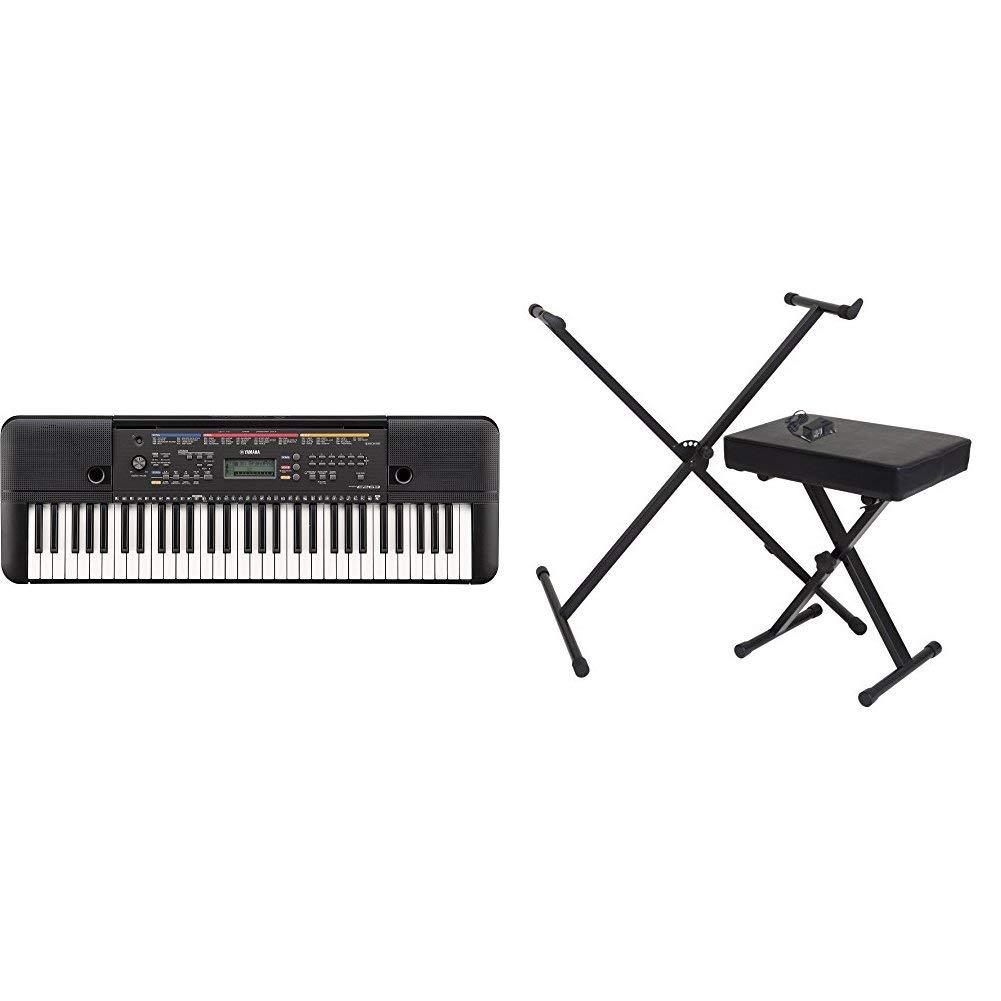 Yamaha PSR-263 Portable Keyboard Bundle with Stand, Bench and Power Supply by Yamaha
