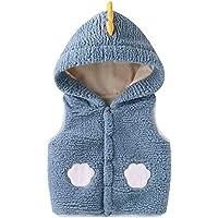 Bebé Chaleco con Capucha, Invierno Fleece Chaqueta Outfits Traje de Nieve Niñas Niños Sin Mangas Calentar Abrigo Regalos…