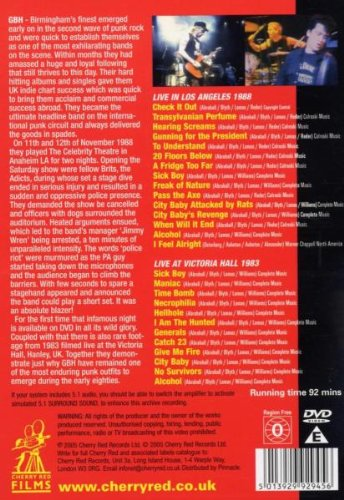 GBH - LIVE IN L.A./LIVE AT VICTORIA HALL