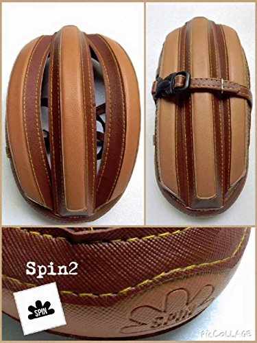 Brown Sugar Pet Store SPIN 2 Vintage Bike Helmet Foldable 2 Tone Brown CoCoa Color