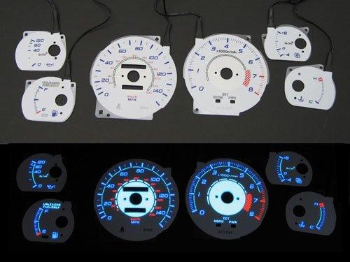 86-92 Toyota Supra Turbo Reverse Indiglo Glow Gauge Set (Gauges Turbo Reverse Glow)