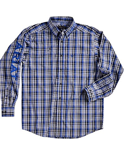 Ariat Men's Men Brookwood Plaid Pro Series Classic Logo Shirt Multi Large (Logo Tee Plaid)