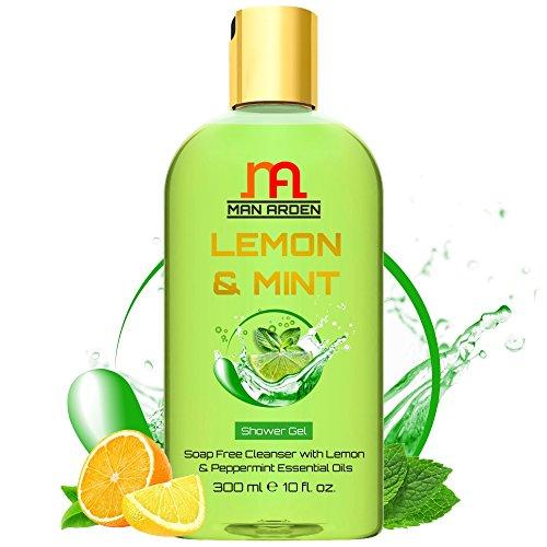 Man Arden Lemon & Mint Luxury Shower Gel - Lemon & Peppermint Essential Oils Body Wash - 300 ml