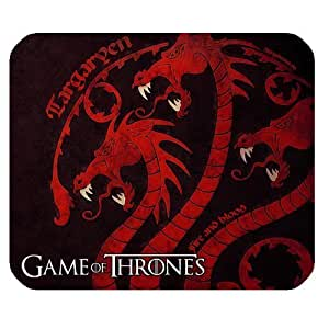 Game Of Thrones Customized Standard Rectangle Mouse Pad Mouse Mat (Black)