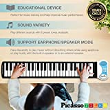 PicassoTiles Roll-up 49-key Keyboard Musical Instrument