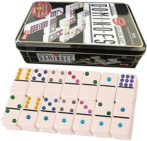 Domino Doble 9. Niños y adultos Juego de táctica - Juego de Mesa (Juego de táctica, Niños y adultos,Niño/niña, 5 año(s), 99 año(s)): Amazon.es: Juguetes y juegos