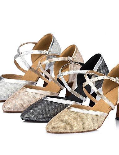 La mode moderne Sandales Chaussures de danse pour femmes personnalisables Satin Satin talon aiguille talons moderne noir intérieur/ivoire/Argent/Or,Champagne,US5.5/EU36/UK3.5/CN35