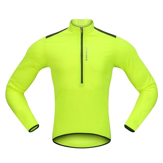 Baoblaze Maglietta Giubbini Maniche Lunghe Jersey Chiusura Lampo Abbilgiamento per Ciclismo Unisex Poliestere Ciclismo Abb