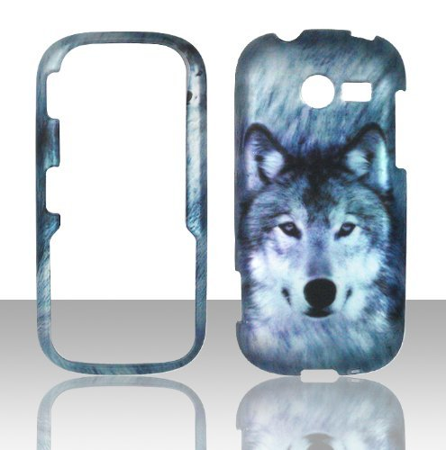 2D Snow Wolf Samsung Array / Montage M390 Case Cover Phone Snap on Cover Case Faceplates (Samsung M390 Phone Case)