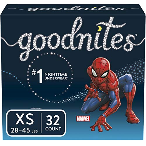 Goodnites Bedwetting Underwear for Boys, XS (28-45 lb.), 32 Ct, Big Pack (Packaging May Vary)