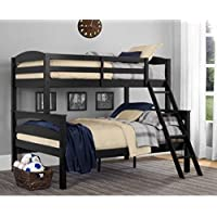 LEIGHTON TWIN-OVER-FULL BUNK BED, Multiple Colors by Better Homes and Gardens (Black)