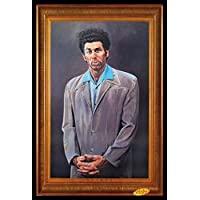 Framed Cosmo Kramer Portrait - Seinfeld TV Show 36x24 Art Print Poster Wall Decor Humor Famous Painting Pop Culture