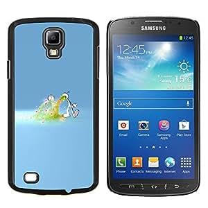TECHCASE---Cubierta de la caja de protección para la piel dura ** Samsung Galaxy S4 Active i9295 ** --Amor desbordamiento