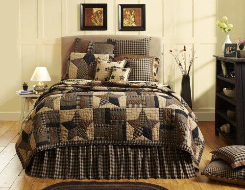 VHC Brands Bingham Star 9374 Quilt, Queen - Hand Pieced Quilt