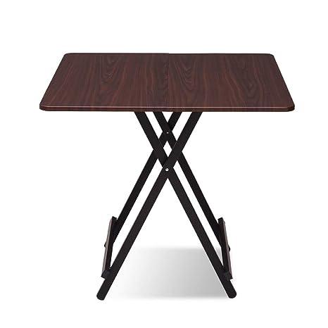 Amazon.com: Mesa plegable de madera cuadrada pequeña casa ...
