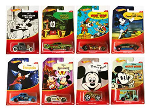 Hot Wheels 2018 Mickey Mouse Set of 8 - Fury Set Plymouth