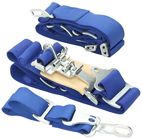 G-Force 6000BU Blue 5-Point Pull-Down Latch and Link Individual Shoulder Harness Set (Pull Down Latch)