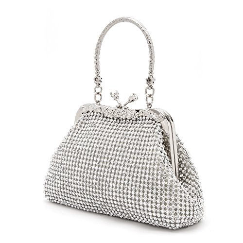 Evening Bags and Clutches Party Wedding Handbags for Women XIANGYI (silver2)