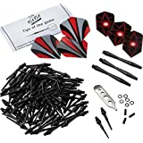 Fat Cat Dart Accessory: Soft Tip Darts Tune Up Tool Kit (Shafts, Flights, 2BA Dart Points and Mechanic Wrench)