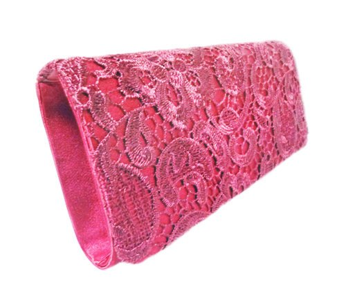 inch Vintage Bright Party Red with Lace Front Strap Clutch Edelweiss 10 Oq6w1Tcxn1