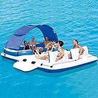 FGKING Isla Flotante Inflable, Flotador de la Piscina Multiusos ...