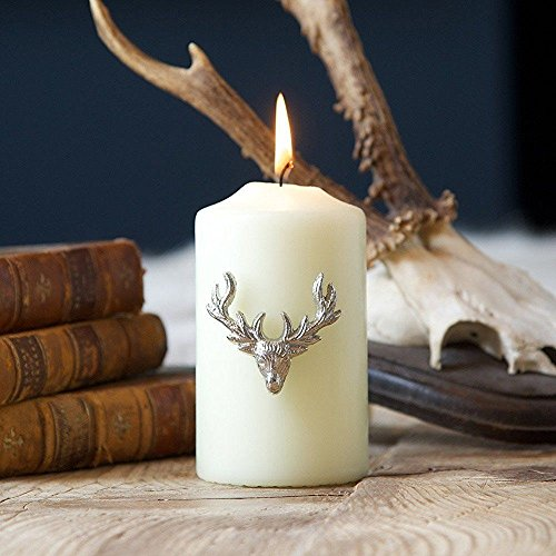 Stunning Silver Stags Head Candle Jewellery Pins - Set of Three Reusable Stag Embellishments by Culinary Concepts