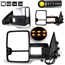 ECCPP Towing Mirrors Power Heated LED Signal Chrome Cover for 14-17 Chevy Silverado GMC Sierra