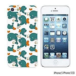 Cartoon Pattern Hard Back Case forDiy For SamSung Galaxy S4 Mini Case Cover Blue Dolphin