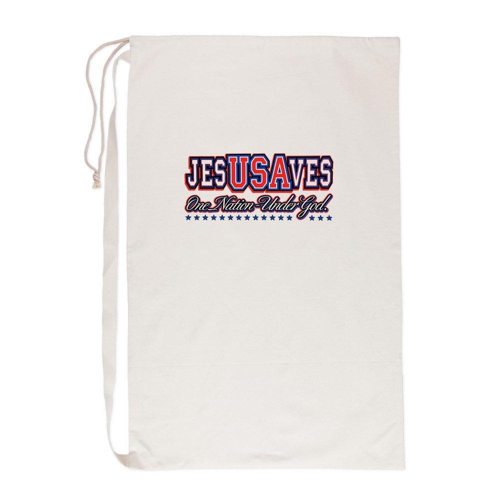 Laundry Bag USA Jesus Saves Nation Under God