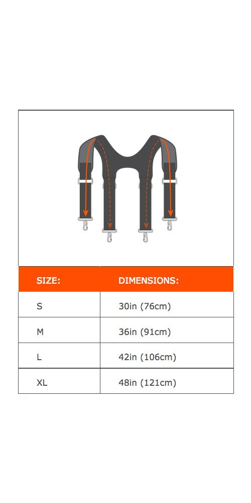 Ergodyne Arsenal 5093 Quick Adjust Suspenders-Reflective, 42-Inch