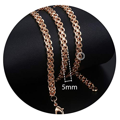 Personalize Necklace for Women Men 585 Rose Gold Foxtail Link Chains Necklace Fashion Jewelry,k6