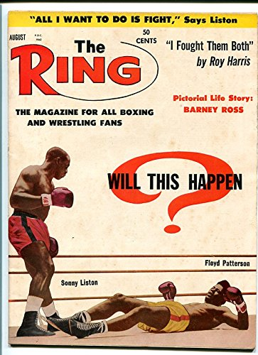 RING MAGAZINE-8/1962-BOXING-LISTON-PATTERSON-ROSS!!! VG