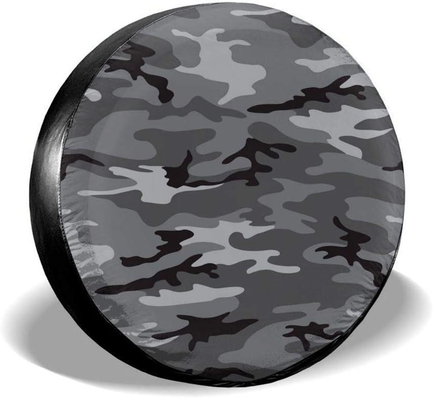 MOLLUDY Reserveradabdeckung Camouflage Grey Seamless Pattern Reifenabdeckung Radabdeckung 14//15//16//17 inch