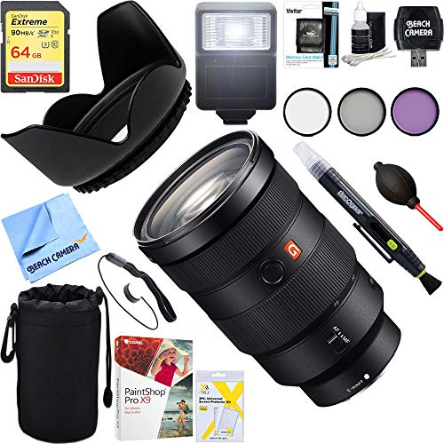 Sony SEL2470GM FE 24-70mm F2.8 GM Full Frame E-Mount Lens + 64GB Ultimate Filter & Flash Photography Bundle