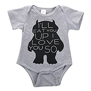 Cute Toddler Baby Girls Boys Monster Romper Bodysuit Outfits One-pieces