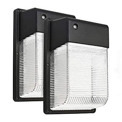 1/2PACK 15W/16W Dusk to Dawn LED Wall Pack, Photocell Outdoor LED Wall Mount Light, 150W Equivalent, 1500 Lumens, DLC Qualified, ETL-listed Exterior Security Lighting, Garage, Garden, Yard