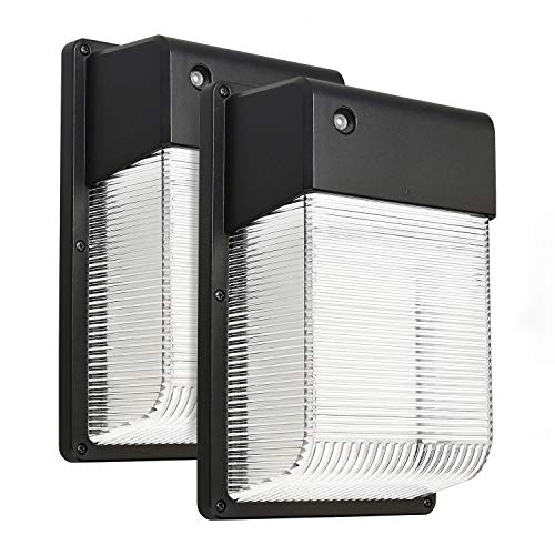 LEONLITE 16W Dusk to Dawn LED Wall Pack, Photocell Outdoor LED Wall Mount Light, 150W Equivalent, 1500 Lumens, DLC Qualified, ETL-listed Exterior Security Lighting, Garage, Garden, Yard, 2 Pack from LEONLITE