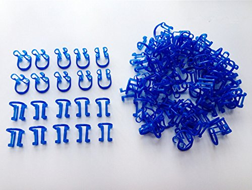 100pcs-blue-color-cotton-roll-holder-clip-disposable-dental-isolator-tool-clinic-new