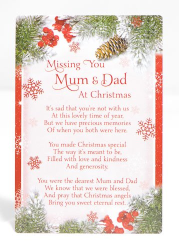 Missing Dad At Christmas.Missing You Mum Dad At Christmas Red Berry Grave