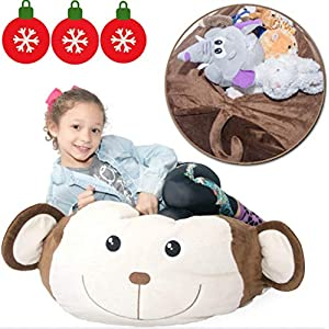 Stuffed Animal Storage Bag – Multi-Purpose Plush Organizer – It's a Comfy Chair & Giant Stuffed Animal – More Fun & Functional Than Mesh Toy Net Hammock.