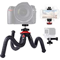 Flexible Camera Tripod, Lammcou Lightweight Mini Gorillapod Tripod Smartphone Table Tripod Stand 3in1 Cell Phone Action Camera SLR Tripods Compatible with iPhone X 8 7 6 Samsung LG Huawei Gopro Action Cam Canon Nikon Sony DSLR Photography Accessories