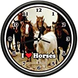 HORSES Wall Clock animal horse lover farmer farm gift