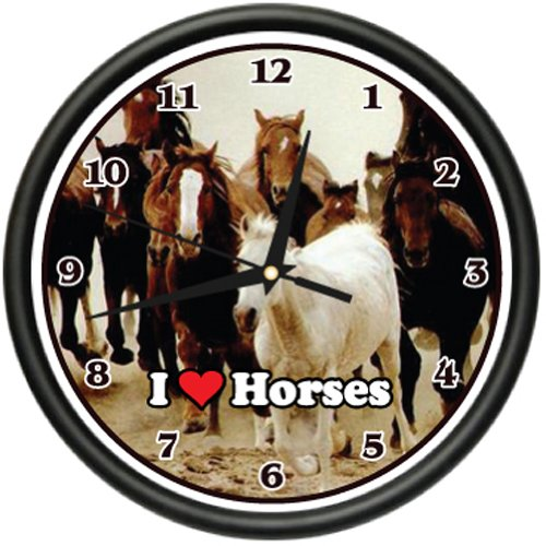 HORSES Wall Clock animal horse lover farmer farm gift