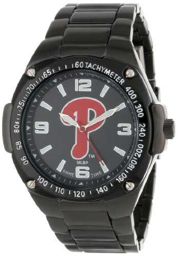 Game Time Unisex MLB-WAR-PHI Warrior Philadelphia Phillies Analog 3-Hand Watch (Philadelphia Phillies Sapphire Series Watch)
