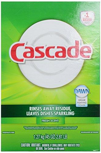 Cascade Powder Dishwasher Detergent, Fresh Scent, 45 oz