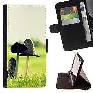 - Plant Nature Forrest Flower 12 - - Prima caja de la PU billetera de cuero con ranuras para tarjetas, efectivo desmontable correa para l Funny HouseFOR HTC One M8