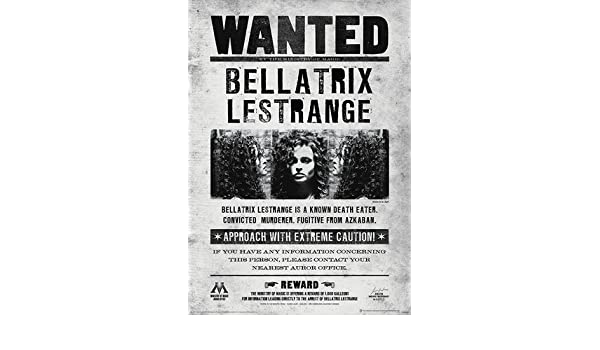 Poster Revolution Harry Potter (Bellatrix Wanted) Movie ...