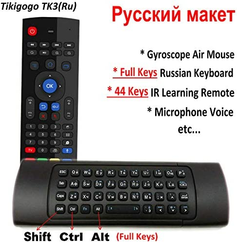 Color: Black Calvas HOT Motion Sensor Wireless 2.4G Smart Mini Air Mouse Keyboard for Android TV Box
